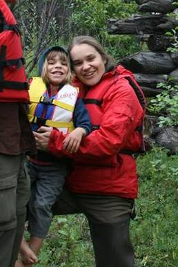 Copper River, rafting with kids, children, boating, paddling