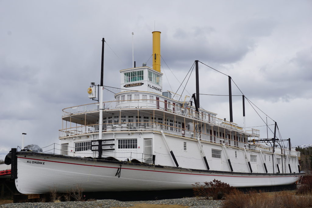 The retired Klondike, one of the famous sternwheelers that helped shaped the history of this region of Canada and the far North in the 1880's.
